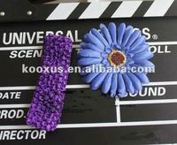 Rhinestone flower baby hair clips bow baby Flowers crochet tutu top
