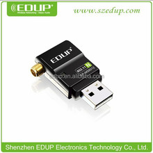EDUP 300Mbps high definition tv dongle Mini usb adapter with 6dbi external antenna EP-MS8512
