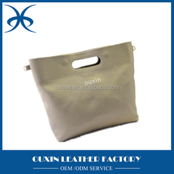 Soft leather shoulder bag Foldable bag for ladies alibaba tote bags from china guangzhou leather factory