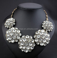 2015 brand Round crystal ball newly statement necklace N8125