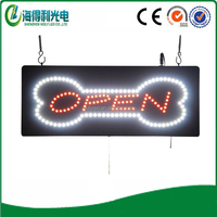 LED rechargeable open sign