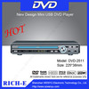 OEM welcomed !! High clarity Karaoke home dvd player portable evd dvd player price