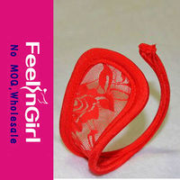 wholesale cheap hot sexy girls red thong model transparent c string
