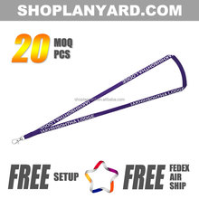 Plain id card lanyard with custom design