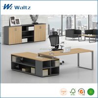 2015 high end E0 grade MFC with steel leg support modern executive office table design