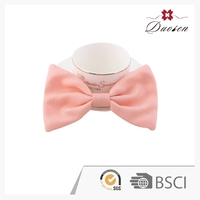 Excellent Quality Customized Logo Printed Style Girls Big Hair Ribbon Bow With Rivet Pearl Barrett Clip