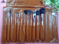 Best selling christmas items !China makeup bruhses set/12pcs for cosmetic brushes with artificial wool/Horse Hair/Goat Hair