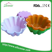 Flexible small round shaped silicone cupcake cake cup