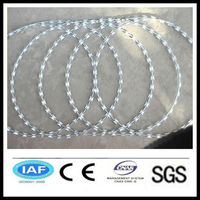 wholesale alibaba China CE&ISO certificated low price concertina razor barbed wire(pro manufacturer)