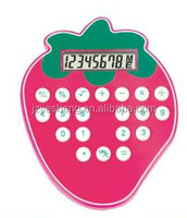 Strawberry Shaped Good Looking Calculator White Button