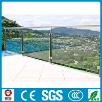 Exterior tempered glass decking railings