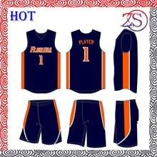 2015 Custom design reversible basketball jersey