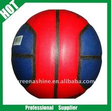 4 panels colorful promotion PU butyl bladder basketball