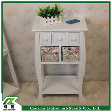 handmade white wood cabinet with drawers/ wood craft mini cabinet