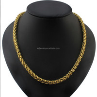 Wholesale Gold Color Stainless Steel Link Chain Necklace for Man 2015