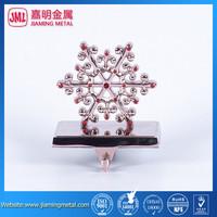 Metal Snowflake Christmas Stocking Holder with crystal ,wreath stocking hanger