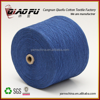 dyed recycled cotton hand knitting yarn fur carpet yarn export for russian market