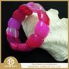 shiny purple color agate bracelet/bangle jewelry wholesale best gift