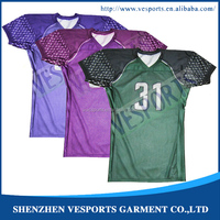 Sublimation Custom made football apparel, youth american football jersey
