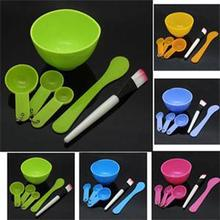 2014 New Fashion Homemade 6in1 Makeup Beauty DIY Facial Face Mask Tool Set Brand DIY Face Mask Bowl Brush Spoon Stick Tool