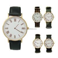 Stainless steel interchangeable genuine leather quartz image watch price