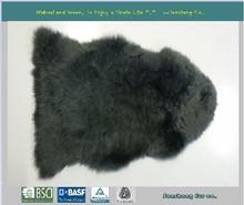 Real long wool australian lamb fur rugs and carpet - single