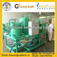 Multi-Function Vacuum Lubricating Oil Purifier / Black Motor Oil Recycling Machine / Hydraulic Oil Filtration