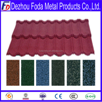 red color steel metal roof roofing tile for villa