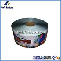flexible food grade printed laminating food packaging plastic roll film
