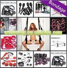 sex door swing bondage high quality black love aid / fetish / bondage leather swing -factory sex toys