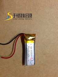 351034 li-polymer battery 90mAh 3.7v good quality customized Watch mobile phone battery MP3 MP4 bluetooth battery
