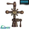 o óleo friccionou o bronze antigo bronze controle de temperatura do chuveiro torneira