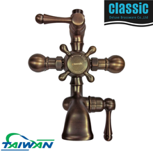 Oil Rubbed Bronze antique brass temperature control shower faucet