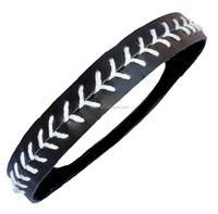 No Slip Sports Headband- Softball Stitch