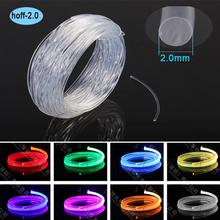Super brightness meter price 2mm Side glow plastic optical fiber for lighting decoration