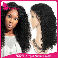 18 inch full lace heavy density box braided human hair wig for black women unprocessed 100% Brazilian virgin hair