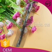 Wholesale gunmetal french beaded lace trimming for garment WTA301