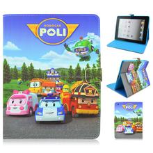 Cartoon 9.7inch New Flip Leather TPU Folio Smart Cover Case For Apple iPad 2 3 4