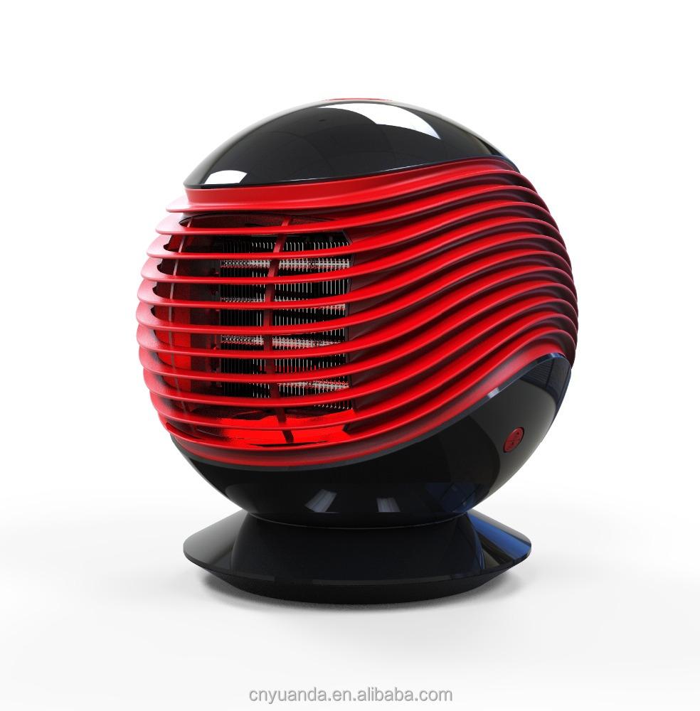 2017 новый дизайн красный oscilating дистанционного воздуха дома настольный вентилятор отопителя