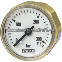 back mount miniature bourdon tube pressure gauge 111.12.27