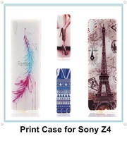 New Sublimation TPU Rubber Back Cover Case Skin for Sony Xperia Z4
