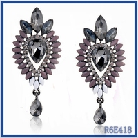 cheap bali style earrings wholesale ladies party wear huggie design resin beaded earrings