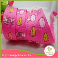 Newest design cute printed lovely school girl ribbon
