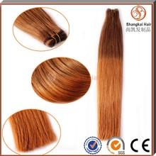 Alta calidad 2015 nueva moda virgen de color dos tonos armadura del pelo extensión del pelo ombre