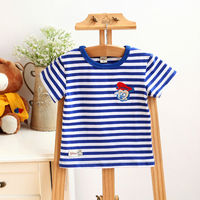 Newest high quality cotton boy kids striped t shirt
