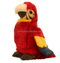 Top Design Life like Red Parrot Stuffed Toys
