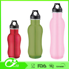 Non-toxic food grade with different caps stainless steel water bottle