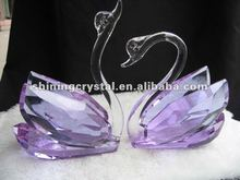 new arrival wedding deoration crystal swan crystal couple swans