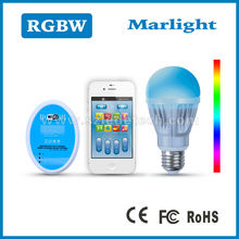 Newest RGBW light led/CE,RoHS,C-tick ,FCC approval E27/E26/E14/B22 led light bulbs