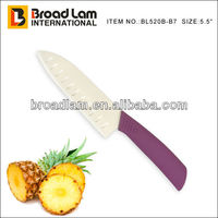 "5.5"" Characteristic Ceramic knife(conchoidal knife) with purple plastic handle"